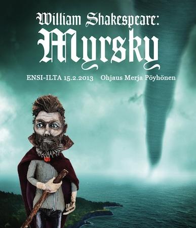 Nukketeatteri Turussa: Myrsky  Nukketeatterijuhla TIP-fest tulossa Turkuun 14-17 marraskuuta. Älkää jättäkö väliin!  http://www.turku.fi/tapahtumat/?ContentID=472525&NodeID=9874