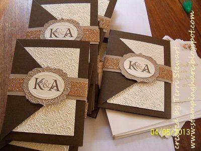 ef47c126f242ed2cbc8d0a2d0c083815 wedding invitations stampin up wedding stationary 135 best cards wedding invitations images on pinterest,Print At Home Wedding Invitation Kits