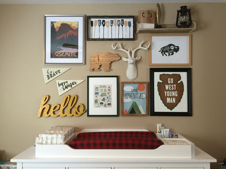 Nursery dresser/changing table - vintage camping theme