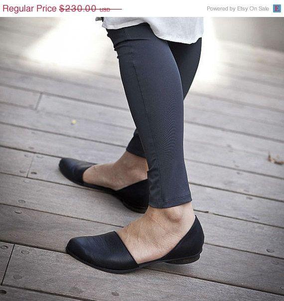 20 off Summer SALE Flat leather shoes Designer by WalkByAnatDahari