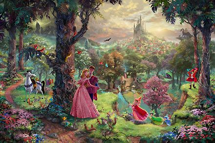 Sleeping Beauty - Thomas Kinkade - World-Wide-Art.com #Disney #Kinkade
