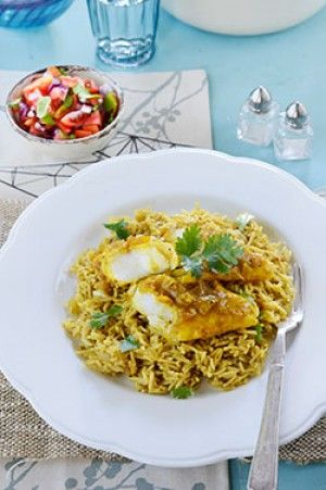 Pickled fish with curried rice