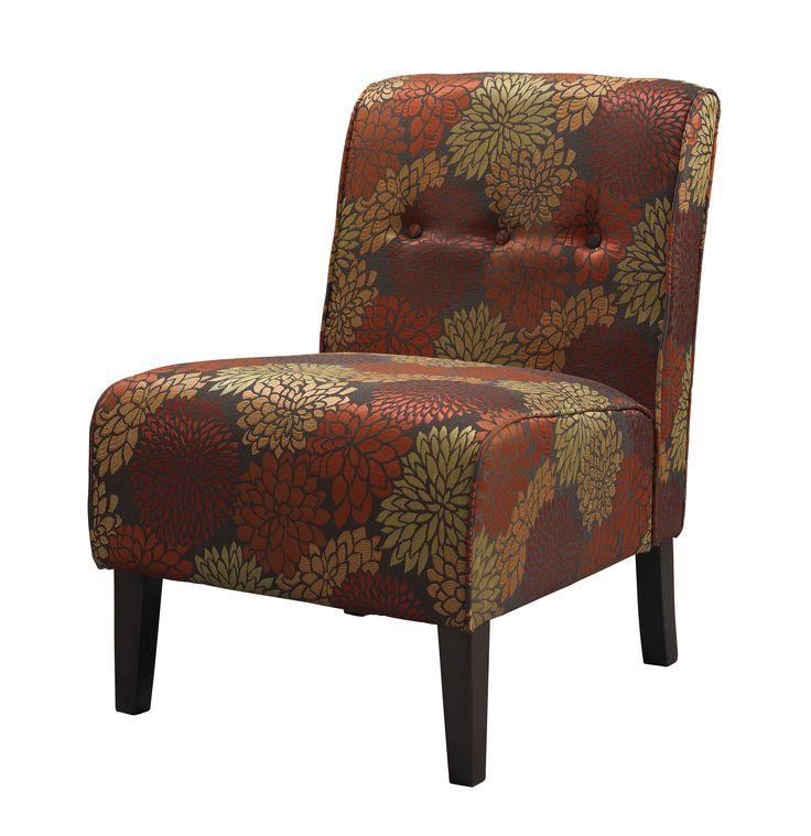 Coco Harvest Accent Chair in Dark Walnut Finish
