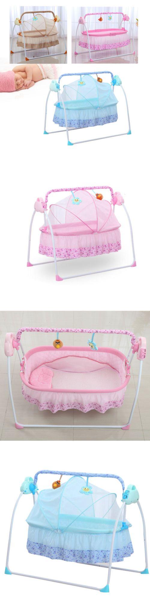 Baby Swings 2990: Electric Baby Crib Cradle Infant Rocker Auto Swing Bed Baby Sleep Cradle + Mat -> BUY IT NOW ONLY: $119.76 on eBay!