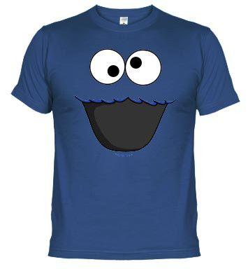 Triki Monstruo de las galletas camisetas friki