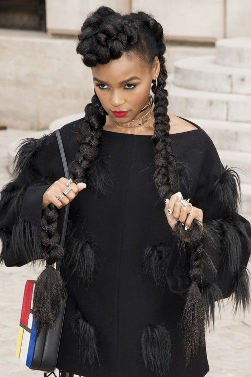 """Last week, Kim Kardashian posteda video tutorial on her website in which she shared how she braids her hair. Problem is, the 35-year-old reality star dubbed the famous and traditional african hairstyle """"Kim Kardashian Signature Braid""""…. Commonly known as cornrows, this hairstyle is really famous among the black community and many celebrities have rocked this jumbo versionway before Kim and her sisters Khloe and Kylie. Take a look, below ! 1. Janelle Monae 2. Christina Milian 3. Ciara…"""