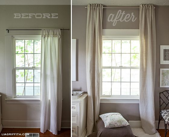 Back tab drapes for the new house.  :)