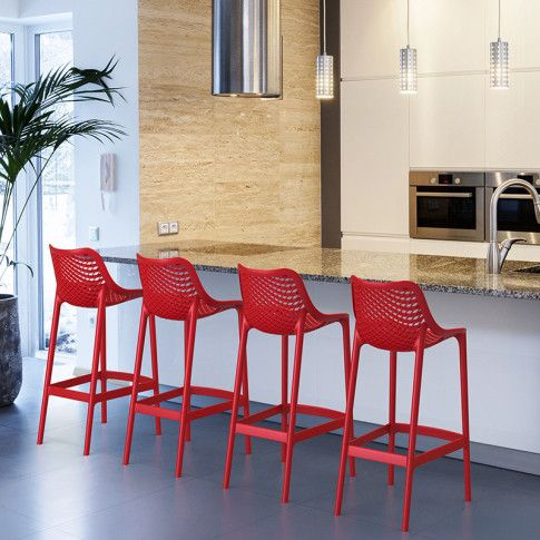 It's extraordinary strength is due to the entire chair being one-piece injection moulded polypropylene, the legs reinforced with glass fibre for even more stability.