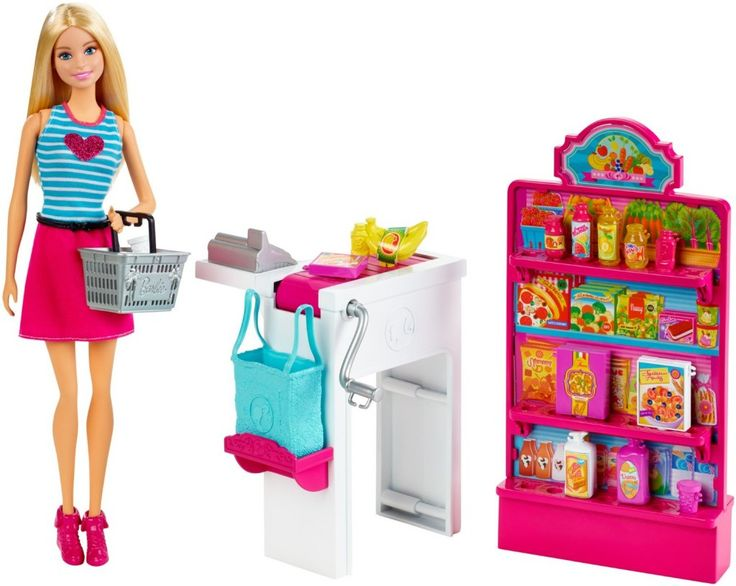 Barbie Malibu Ave Grocery Store with Barbie Doll Playset