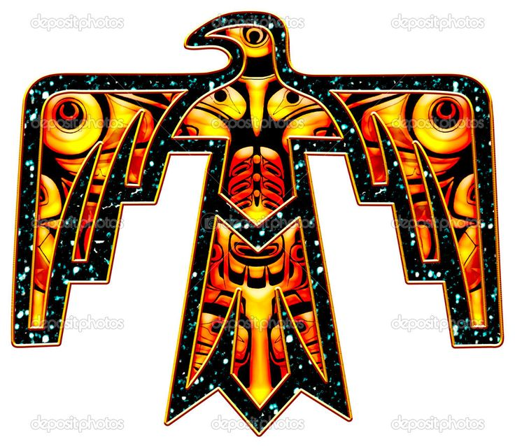 native american symbols | The Native Symbol or Totem - Thunderbird symbolises power, protection ...