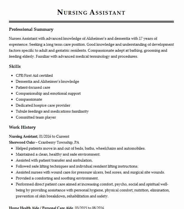 Resident Assistant Resume Examples Fresh Resident Care Aide Objectives Resume Objective In 2020 Resume Examples Resident Assistant Resume