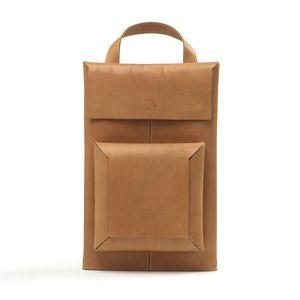 Versatile zaino in pelle, porta-computer, che può essere usato anche come valigetta, borsa a tracolla o semplice busta a mano. Spedizione express gratuita!