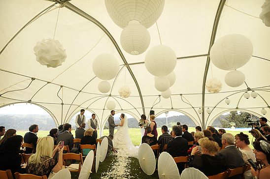 This wedding ceremony was a beautiful affair in an igloo shaped gazebo, featuring the stunning backdrop of the hills and distant escarpment at the Southern Highlands | Central Coast Wedding Photographers by Impact Images | For more photos, visit www.impact-images.com.au #huntervalleyweddings #newcastleweddingphotographer   #huntervalleyweddingphotography