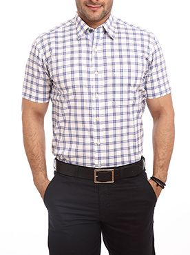 Men who like to wear simple and subtle shirts will love this attire. Color Plus is a brand known for a classy clothes line. Featuring checkered designs this shirt will let you flaunt your calm and composed personality. Perfect for regular office wear this shirt features a simple look. Constructed from spring classic fabric it is a ready-made shirt that offers breathability. You can wear it with a straight-fit pair of trousers for a suave corporate look. You can match it with a pair of beige…