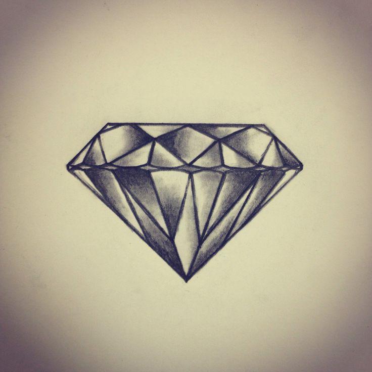 Diamond tattoo sketch / drawing  by - Ranz