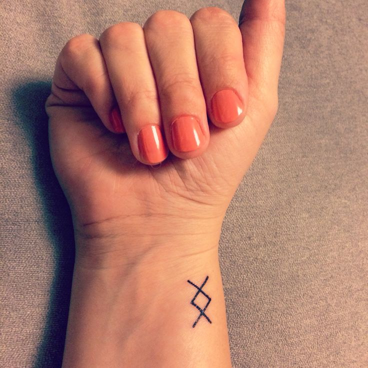 Small geometric nordic rune tattoo where there 39 s a will for Small viking tattoos
