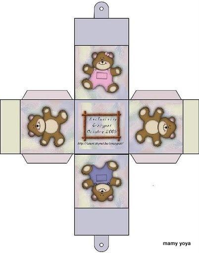 Miniature Printables - Bears Box.