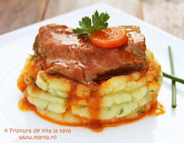 Cea mai buna friptura de vita la tava ! Te astept cu retete delicioase, simple si rapide -Marya.ro