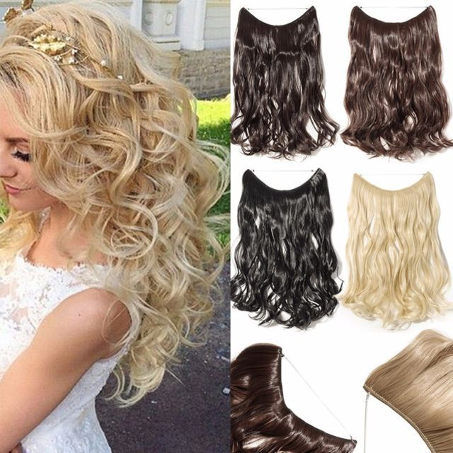 """AU Secret Invisible Wire Flip in Hair Extensions 90g 20"""" Real Thick as Human NB2"""