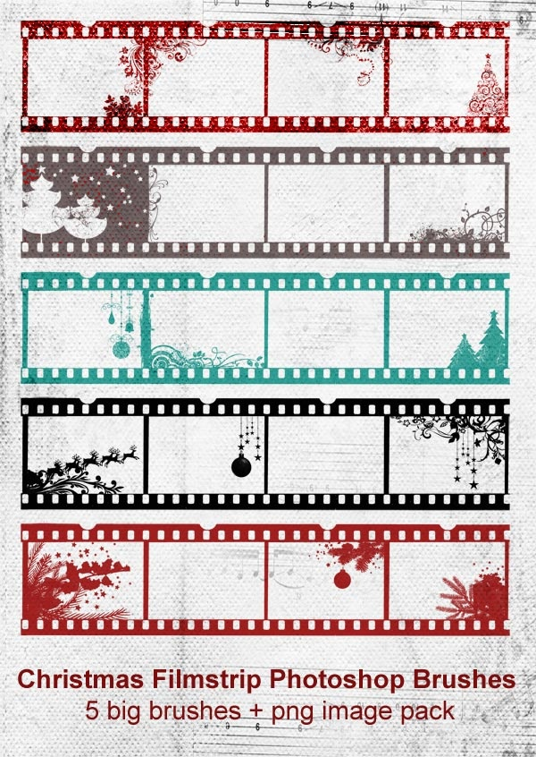 film strip brushes for christmas | photoshop | pinterest | film, Powerpoint templates