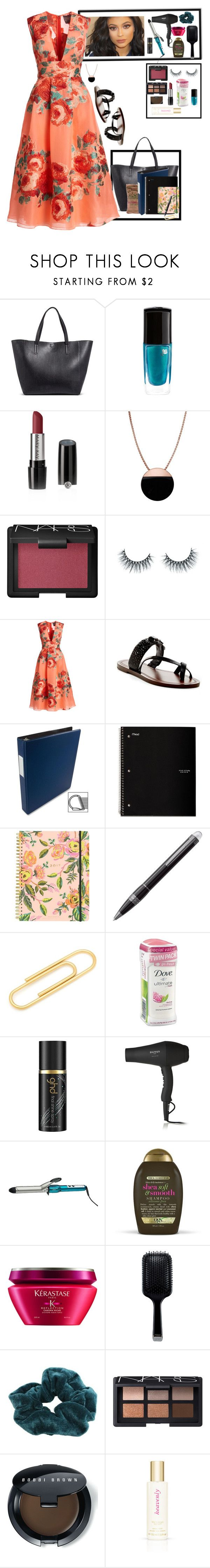 """""""July 10th"""" by rachelellen21 ❤ liked on Polyvore featuring Merona, Lancôme, Mary Kay, Skagen, NARS Cosmetics, Unicorn Lashes, Lela Rose, Via Spiga, Five Star and Rifle Paper Co"""
