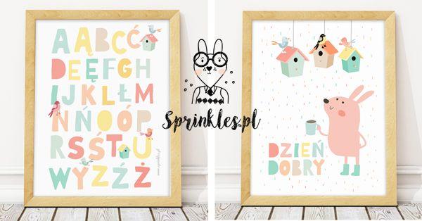 Kids wall decor, nursery wall decor, posters.