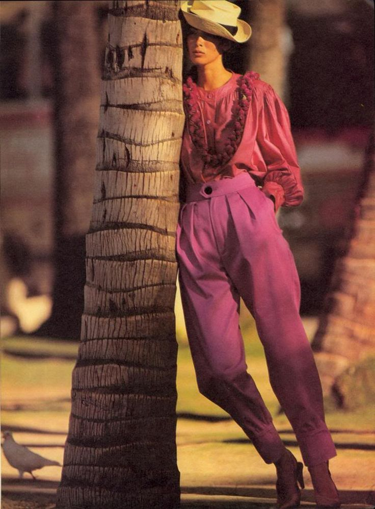 Vogue US 1985 Photo Hans Feuer Model Linda Spierings  Hair Didier Malige Makeup François Nars