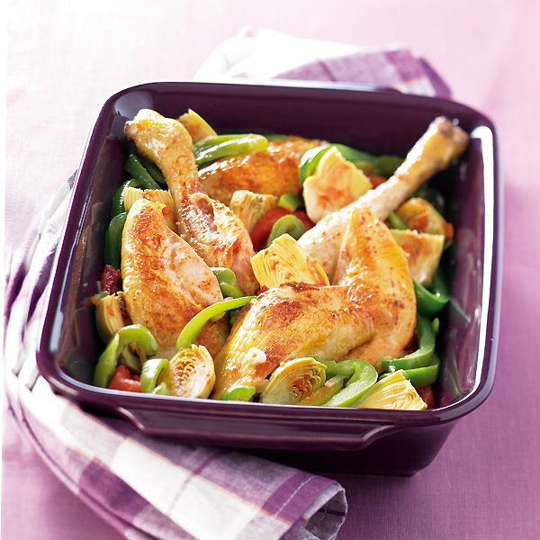 WeightWatchers.fr : recette Weight Watchers - Poulet basquaise 9 PP