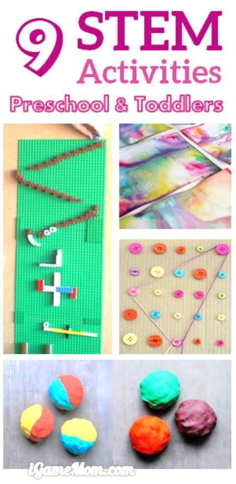 Fun STEM (Science Technology Engineer Math) activities for preschool and toddler age kids