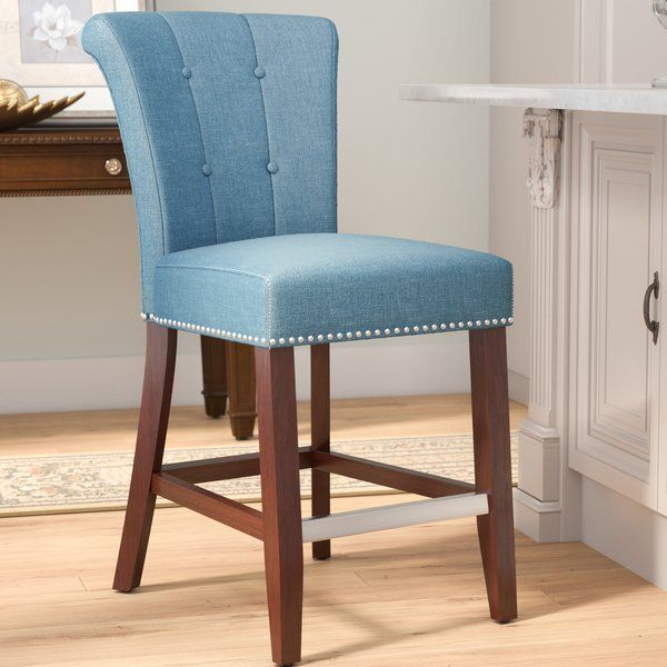 Give Your Eat In Ensemble A Touch Of Traditional Style With This 24 5 Bar Stool This Counter Height Piece Is Craf Bar Stools Upholstered Bar Stools Furniture
