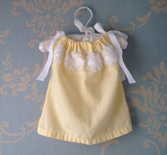 3 6 months Baby Girl Pillowcase Style Dress Vintage White