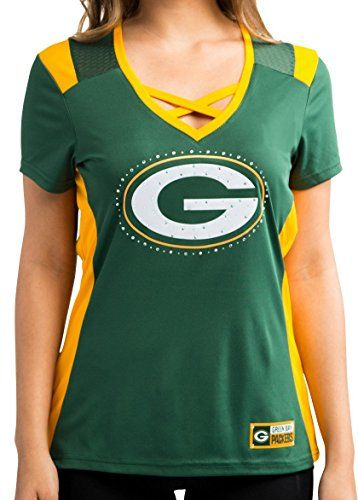 Green Bay Packers Womens Green Draft Me Jersey VNeck Tshirt XLarge -- More info could be found at the image url.