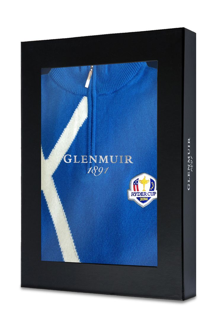 2014 Europe Ryder Cup 100% CASHMERE Saltire Zip Neck Sweater - Friday Match Day