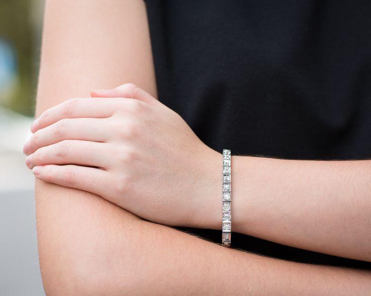 Bransoletka z diamentami 11268 Sklep Złoto-Orla    #Warszawa #stylizacja #czarnyibiały #diamenty #bransoletka