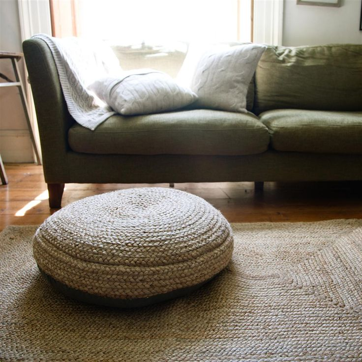 Braided Hemp Pouf Purchases T Apartments Living Fascinating Braided Hemp Jute Pouf