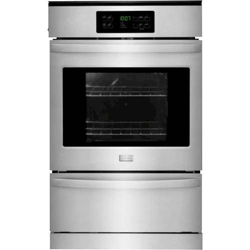 """Frigidaire - 24"""" Built-in Single Gas Wall Oven - Stainless Steel - Front_Standard"""