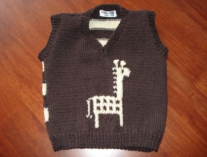 Knitted Vest - Giraffe and Kiwi too!