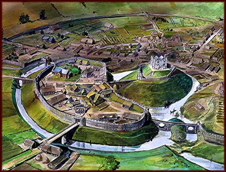 Pleshey Motte and Bailey Castle - Artist's Impression (no longer present)