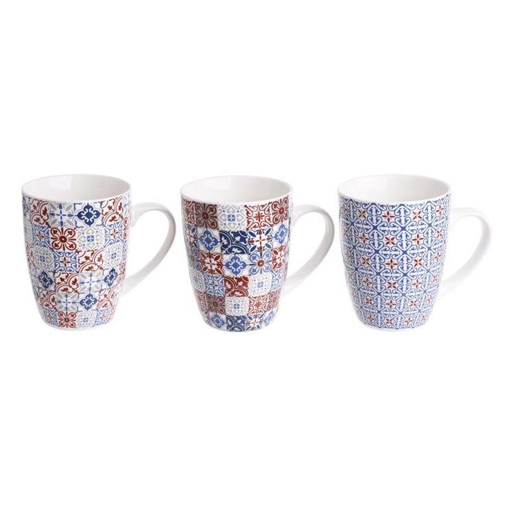 Tea Mug Set Of 3 Pieces - inart