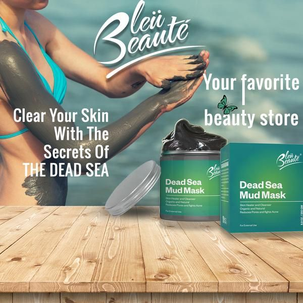 DEAD SEA MUD MASK – Skin Cleanser for Acne Pores and Wrinkles (*)
