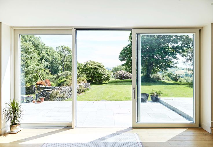 Open 3 Panel Lift Slide Door AluClad
