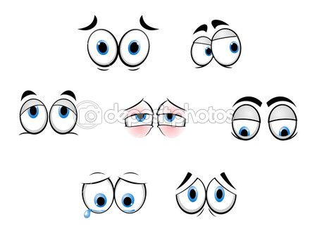 oczy śmieszne kreskówki — Ilustracja stockowa #6313186