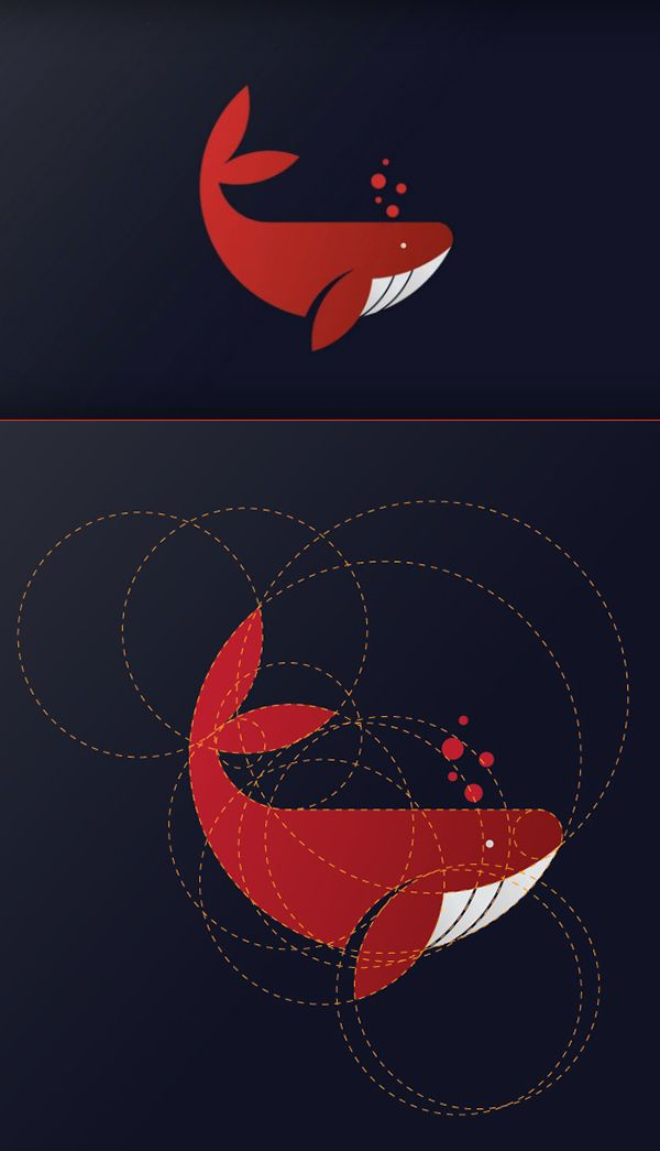 How to Create Whale Logo Design in Adobe Illustrator #logotutorials