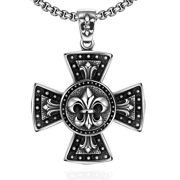 467 best cross images on pinterest ancient jewelry antique thick cross necklace mens mozeypictures Image collections