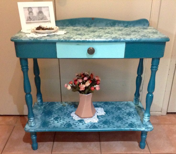 OLD RETOLD SHABBY CHIC LACE WORK HALL STAND