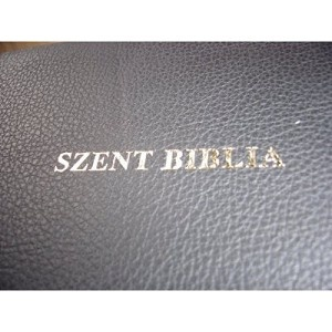 Szent Biblia, Leather Hungarian Bible (Karoly Gaspar) Large Print