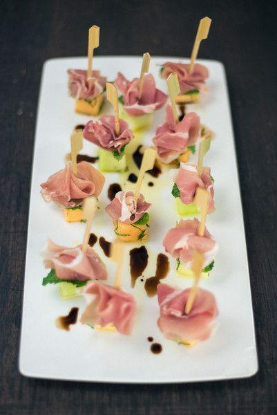 Prosciutto & Melon Bites with Fig Balsamic Vinegar | Hatchery