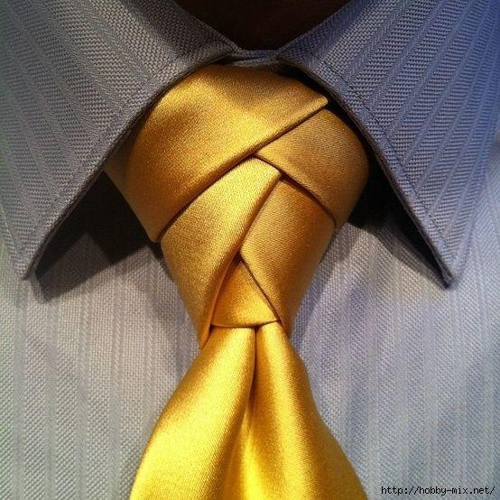 Очень красивые галстучные узлы.