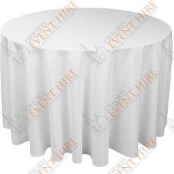 "130"" Circular Linen: White. http://www.oxfordeventhire.co.uk/circular/91-130-circular-basic-colour-range.html"