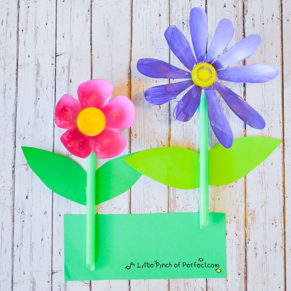 1000 images about flower crafts on pinterest kids for Recycled flower art